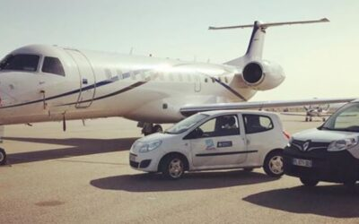 L'aéroport a récemment procédé au flocage de ses véhicules