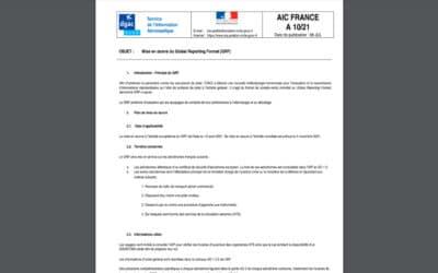 Mise en œuvre du Global Reporting Format (GRF) disponible